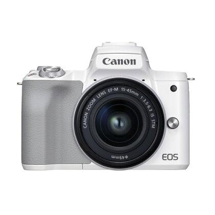 キヤノンミラーレスカメラ EOSKissM2・レンズキット(ホワイト)