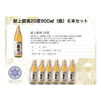 【ふるさと納税】酒蔵王手門献上銀滴900ml(瓶)×6本セット
