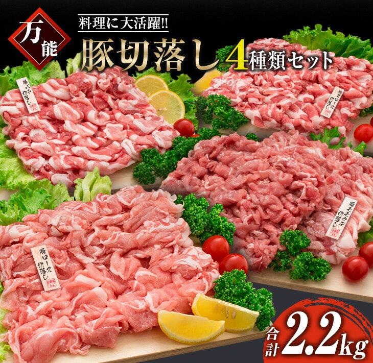 ≪料理に大活躍≫万能豚切落し4種類セット(合計2.2kg)日南市産