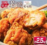【ふるさと納税】大人気!!<戸村本店特製味付け>若鶏モモ肉★唐揚げ用(計2.5kg)
