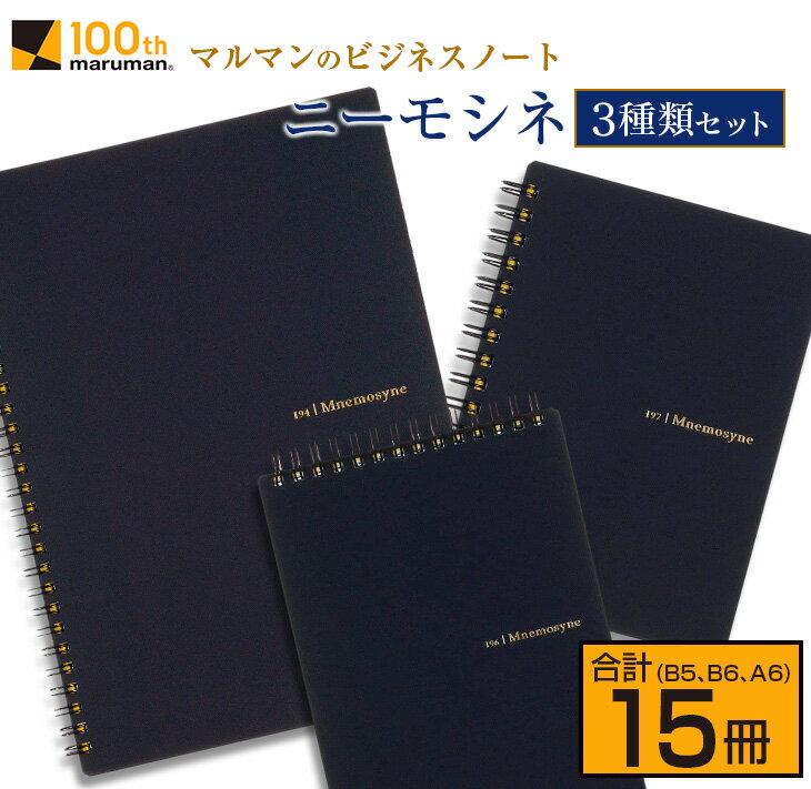 マルマンのビジネスノートブランド「ニーモシネ」3種類セット(B5、B6、A6)合計15冊