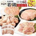 【ふるさと納税】宮崎県産 若鶏セット7.5kg 今だけ増量!...
