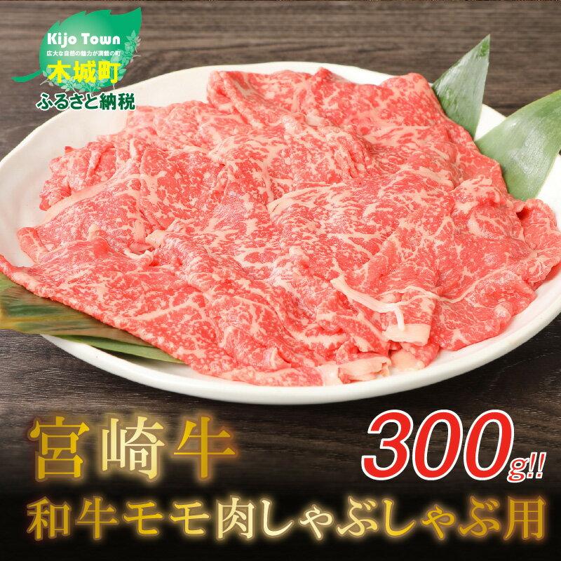 宮崎牛和牛モモ肉しゃぶしゃぶ用 300g [宮崎県木城町]]