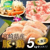 【ふるさと納税】<宮崎県産豚・鶏5kgセット> K16_0015 送料無料 【宮崎県木城町】