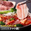 【ふるさと納税】さんきょうみらい豚しゃぶしゃぶトマト鍋セット...