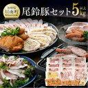 【ふるさと納税】人気の「ななつ星in九州」採用!!5キロオーバーこんなに食べれません 尾鈴豚セット