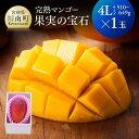 【ふるさと納税】※糖度15度以上※果実の宝石マンゴー4L1玉