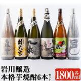 【ふるさと納税】岩川醸造飲み比べ1800mlパック6本セット!地元でも人気の銘柄も入った豪華6本セット♪【大隅家】