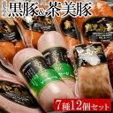 【ふるさと納税】黒豚・茶美豚バラエティセット1【鹿児島協同食品】