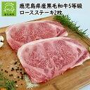 【ふるさと納税】鹿児島県産黒毛和牛5等級ロースステーキ2枚