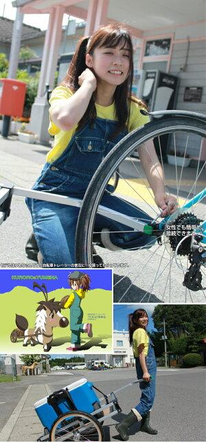 【即納】超剛性フラットベッド<WIKEHeavyDutyFlatbed>サイクリングやキャンプに★自転車の可能性を広げます★各種配送や移動販売に使えます。