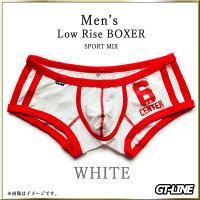 ローライズ スポーツ ボクサー メンズ ツートン カラー パンツ ライン Gストリング 男性用 もっこり 下着 ブリーフ ラグジュアリー プリケツ おしゃれ かっこいい GTLINE Favolic ファボリック