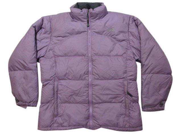 【中古】 THE NORTH FACE/ノースフェイス ダウンジャケット 600フィルパワー 薄紫 【サイズ:Girl's XL】【OUTDOOR/アウトドア】【あす楽対応】【古着 mellow楽天市場店】