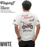 フラッグスタッフスヌーピーアメリカンバイク刺繍半袖TシャツFLAGSTAFF×SNOOPY