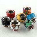 電子タバコ VAPE 用カラーストーンワイドドリップチップ510