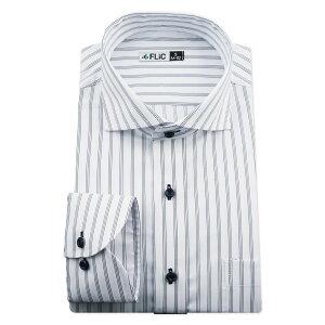 ワイシャツ ノーアイロン ドライ ストレッチワイシャツ メンズ 長袖 形態安定 吸水速乾 織柄 ホリゾンタル