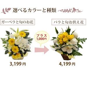 【送料無料】ペットのお供え+1000円でバラのアレンジに
