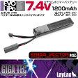 Laylax-GigaTec:リポバッテリー PSE LiPo 7.4V 1150mAh 次世代SOPMODサイズ 【エアガン,エアーガン,サバイバルゲーム,サバゲー,18歳以上,おもちゃ,銃,トイガン】