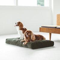 【犬ベッド】涼しげな色合いのベットウォッシャブルリネンベッドS
