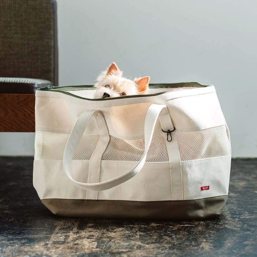 【犬 キャリーバッグ】キャリーバック ウォッシャブルトート Lサイズ carry bag free stitch