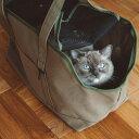 【猫 キャリー】スクエア トート ハンプ ソリッド Lサイズ大きい猫 猫 ネコ ねこ かばん キャリー...