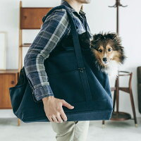 スクエアトートキャンバスソリッドLサイズ犬
