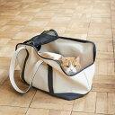【猫 キャリー】スクエアトート ハンプ ツートン Lサイズ猫 ねこ 大きい猫 キャリーバッグ キャリ...