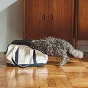 【猫 キャリー】スクエア トート ハンプ ツートン Sサイズ猫 ねこ ネコ キャット 子猫 仔猫 キャリーバッグ バッグ かばん 鞄 トート クレート 帆布 洗える 洗濯 軽い 病院 通院 おしゃれ シンプル 日本製 日本 その1