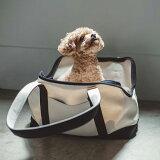 【犬 キャリー】スクエア トート キャンバス ツートン S サイズ犬 キャリー キャリーバッグ バックパック キャリーケース ペット 旅行