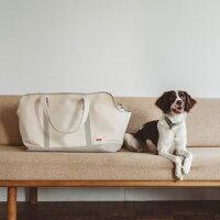 スクエアトートリネンツートンLLサイズ犬お出かけに便利なスクエアタイプのトートバッグ犬用バッグキャリーバッグ犬鞄おしゃれシンプル日本製