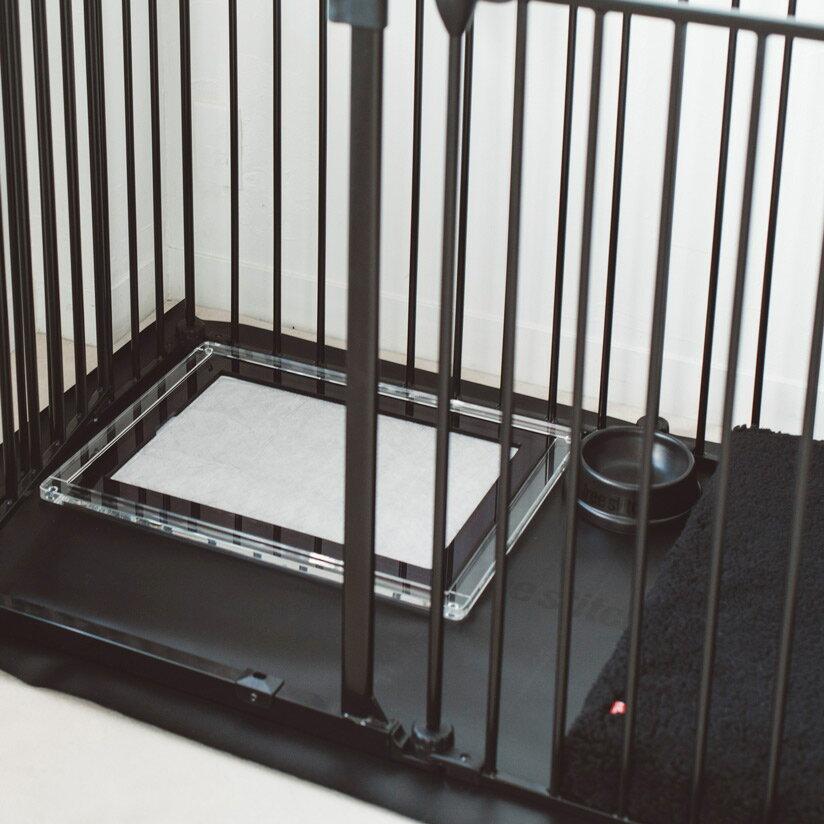 オリジナルアクリルトイレトレイSレギュラー犬トイレ犬おしゃれシンプルアクリルトイレトレイマナースペースインテリア日本製洗えるアクリルブラックホワイトブラウンシーツ