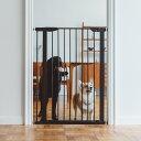 【犬 フェンス】スタイリッシュ ドッグ ゲート トール おしゃれなアイアン製ドッグフェンスゲート フェンス おしゃれ シンプル つっぱり 北欧風 アイアンゲート ペットフェンス ドッグフェンス ゲート ガード 柵 階段 パーテーション その1