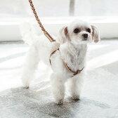 犬 ハーネス 革 オリジナルヌメリングワンタッチハーネス 30 小型犬用