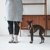 【犬ハーネス】革胴輪中型犬〜大型犬用オリジナルヌメハーネス45
