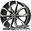 【送料無料】 225/40R19 19インチ MSW by OZ Racing MSW 48(マットブラックポリッシュ) 8J 8.00-19 SAFFIRO サフィーロ SF5000(限定) サマータイヤ ホイール4本セット 輸入車