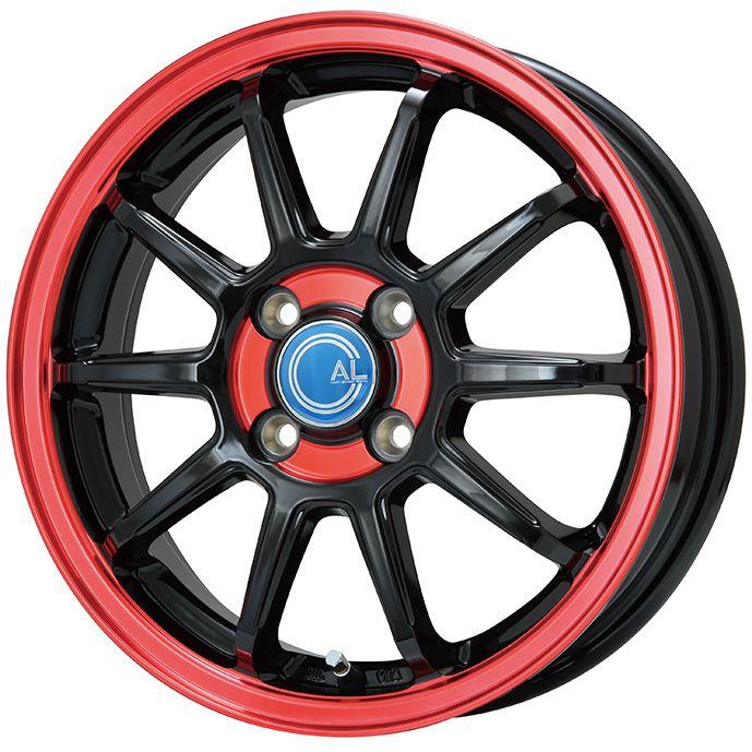MICHELIN ミシュラン X-ICE 3プラス(限定) 185/65R15 15インチ スタッドレスタイヤ ホイール4本セット BRANDLE-LINE ブランドルライン カルッシャー ブラック/レッドクリア 5.5J 5.50-15