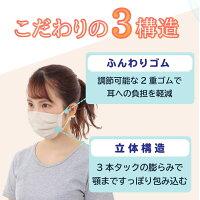 ウイルス飛沫カットフィルタ99.9%花粉カットお肌に優しいガーゼマスク布マスク洗えるノーズワイヤー入り日本製(やさしいマスク潔-isagiyoi-MASK)喉乾燥保湿対策敏感肌耳が痛くない