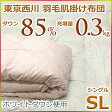 東京西川 羽毛肌掛け布団(ダウンケット) ホワイトダウン85% MD6030A シングルサイズ