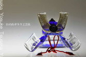 「ガラスの兜 瑠璃」兜・端午の節句・五月人形・節句・5月5日・販売・通販・お祝い・ギフトプレゼントに