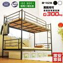 【耐荷重 300kg】二段ベッド 2段ベッド ムーン2-GK...