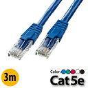 CAT6LANケーブル シールド STP 爪折れ防止 2m ブルー