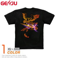 【GENJU】[半袖/ロンT切替可]ストリート系Tシャツ★戦空[グリフォン]