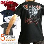 狼 十字架 クロス ウルフ ロック系 メンズ レディース Tシャツ ロンT 長袖/半袖 XS/S/M/L/XL/XXL/XXXL 2L/3L/4L ストリート系 カッコいい グラフィティ サイズ 大きめサイズあり【GENJUブランド】Wolfen Heart