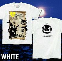 かぼちゃと骸骨、幽霊、蝙蝠のハロウィンTシャツです。仮装やイベントに!|GENJU