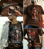 スカル|骸骨|ドクロ|剣|ロック系|人気|Tシャツ|GENJU