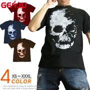 スカル ドクロ 髑髏 骸骨 メタル ロック Tシャツ