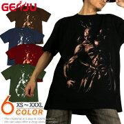 阿吽 仏像 仁王 和柄 Tシャツ