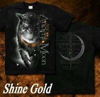 狼|ウルフ|雪原|クール|Tシャツ|GENJU
