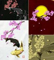 和柄|鯉|Tシャツ|桜