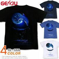 海|夏にぴったり|イルカ|ドルフィン|Tシャツ
